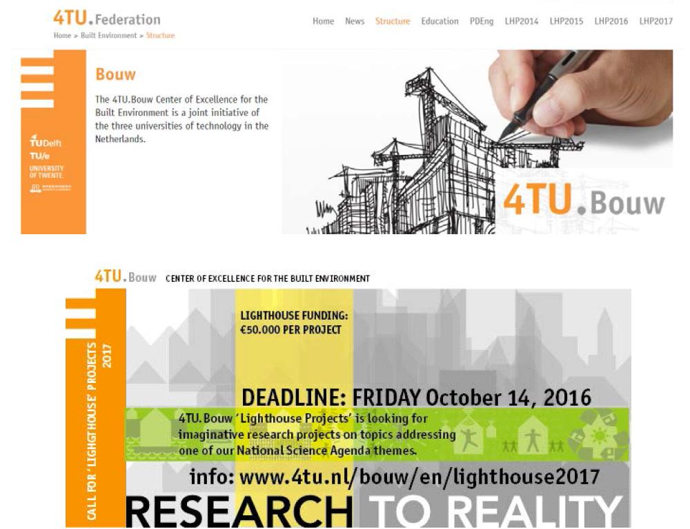 4TU Lighthouse Project 홈페이지 및 Center 소개
