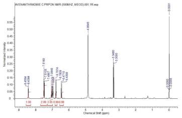 NMR을 통한 구조 확인